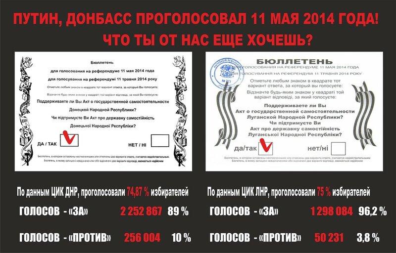 Референдум на Донбассе 11 мая 2014 года
