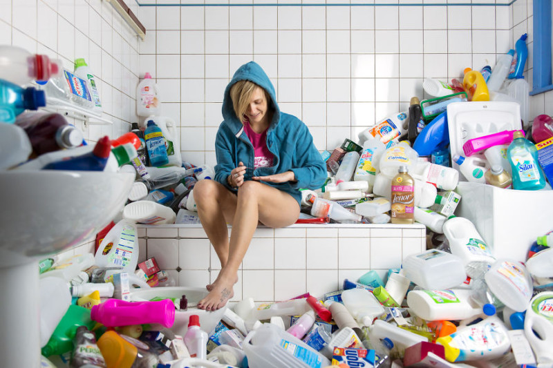 Фотограф четыре года не выбрасывал мусор ради фотосессии
