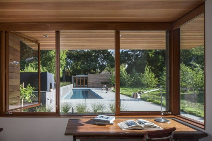 Located in an established Los Altos neighborhood, this single-family residence is a modernist reinte