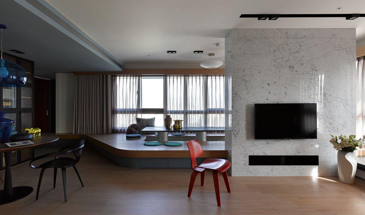 Квартира Circle, квартиры в Тайване, дизайн интерьера квартиры фото, оформление гостиной фото, интерьеры квартир примеры, портфолио Ganna Design