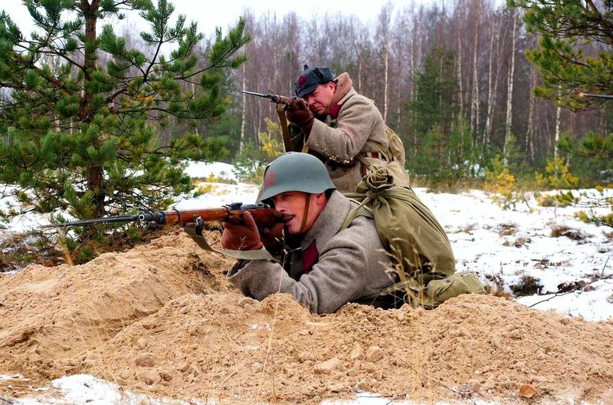 Зимняя (советско-финская) война глазами петербургских реконструкторов (ноябрь 2014 года) (1)
