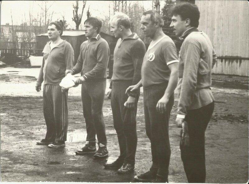 Футбольная команда начстава. 1988 год