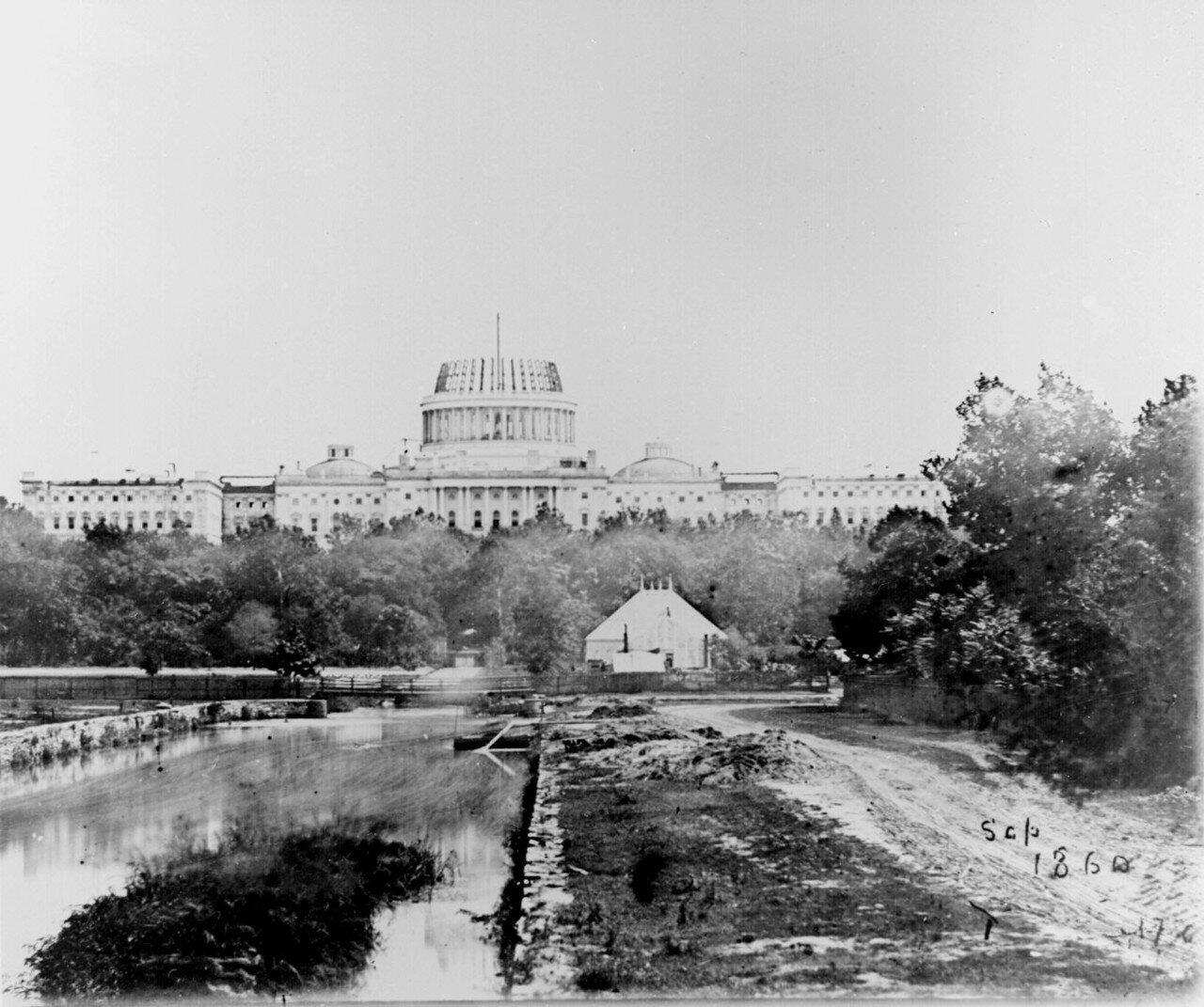 1859. Американский Капитолий во время строительства