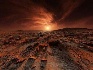Жизнь на Марсе погибла от ядерных взрывов - ученые