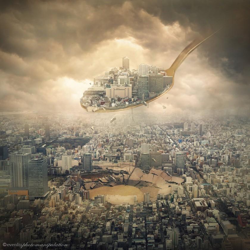 Удивительные фотоманипуляции Ивен Лю