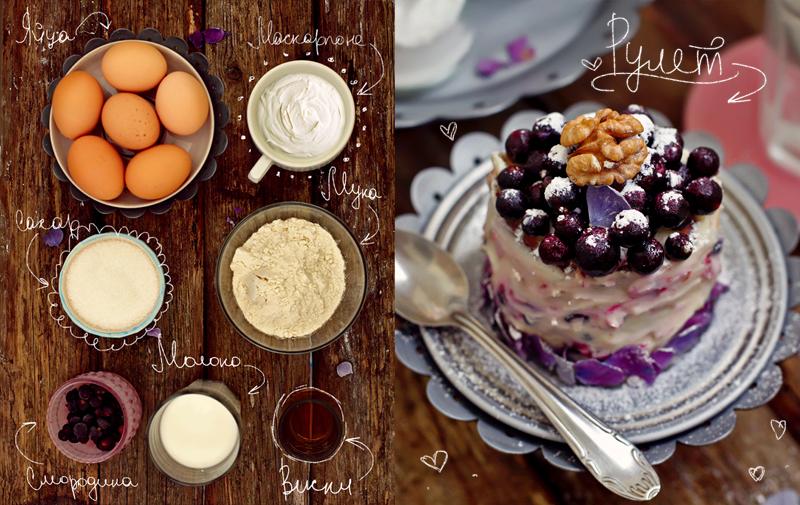 Ангельский бисквит в виде рулета - рецепт с фото #2.