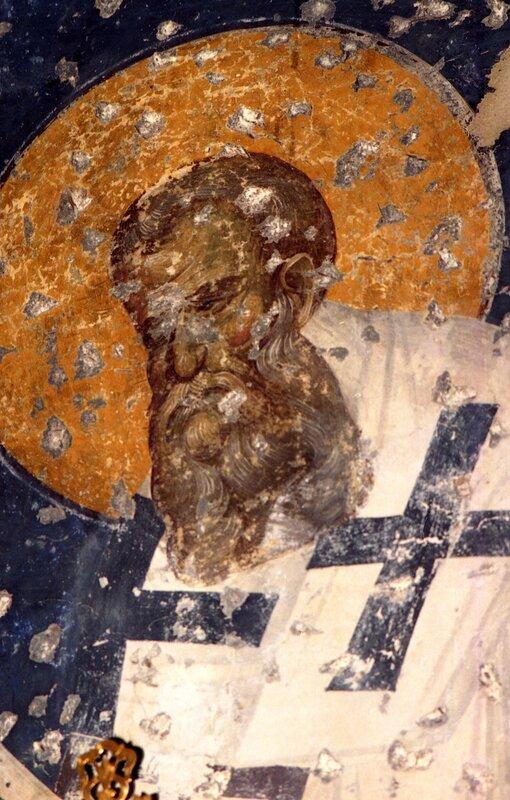 Святитель. Фреска XIV века в церкви Святых Апостолов в Салониках.