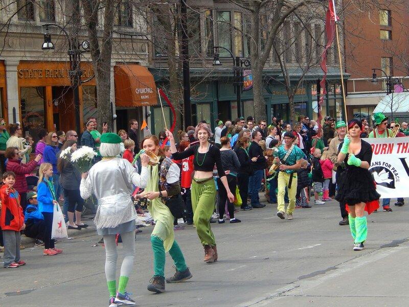 Parade on St.Patrick's Day.