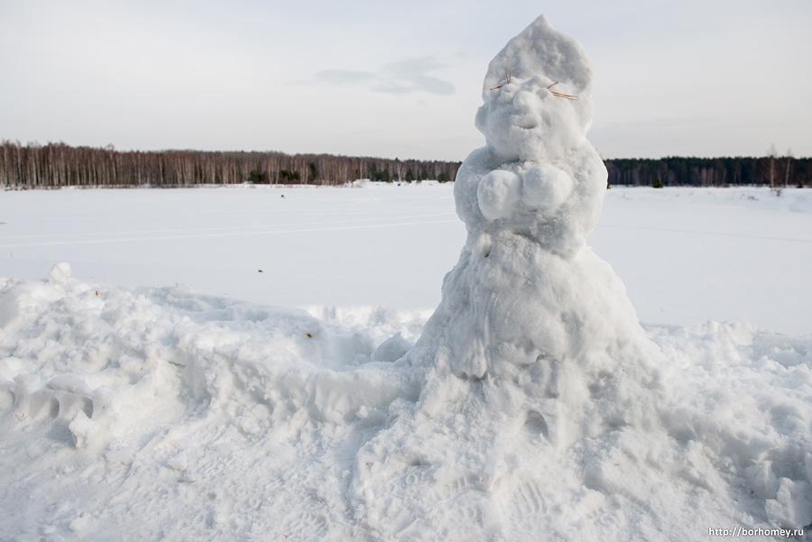 снеговик девушка