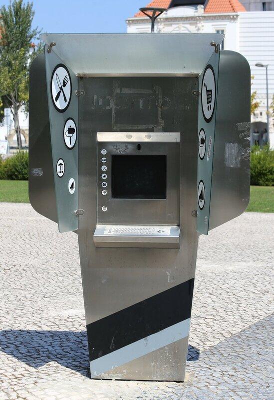 Leiria. Square of Paulo VI (Praça Paulo VI). Information terminal