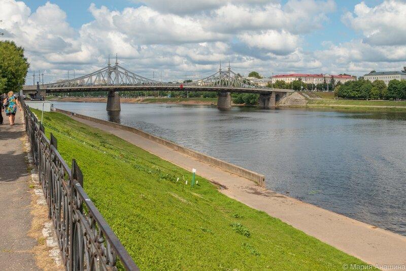 Староволжский мост, Тверь, Волга