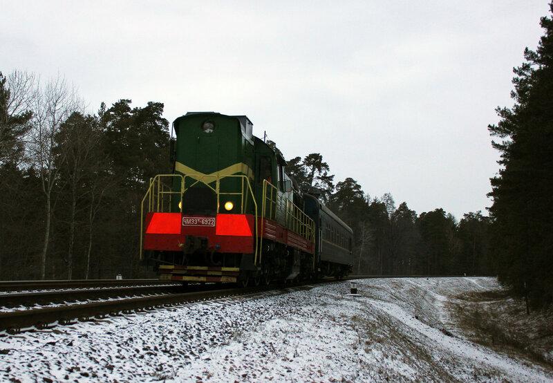 ЧМЭ3Т-6922 на перегоне Новобелицкая - Берёзки