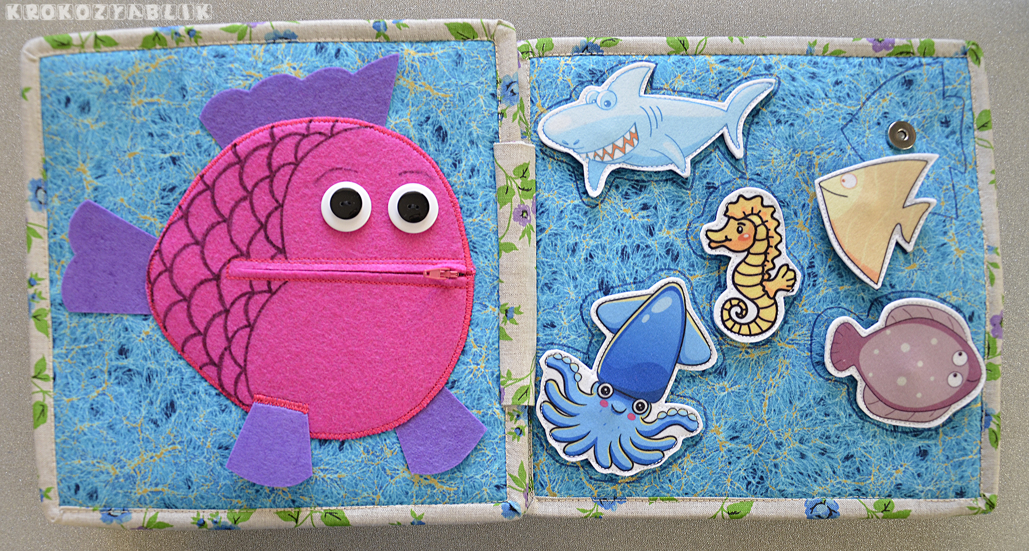 книжка для малышки рыба застежка молния рыбки.JPG