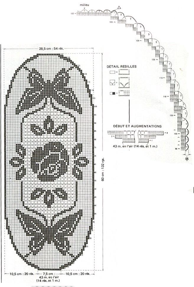 Схема для вязания салфеточки: