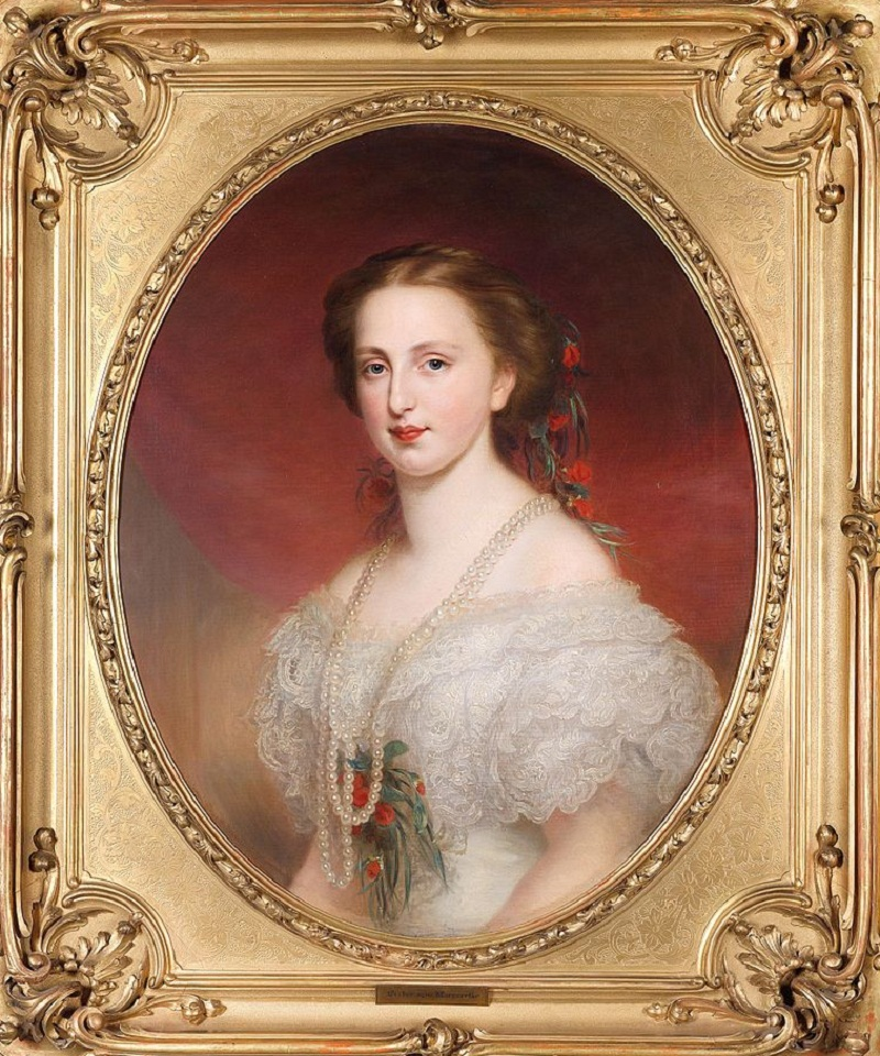 Franz Schrotzberg (1811–1889) Royal princess Margarethe Caroline of Saxonia, 1840-1858, first wife of Archduke Karl Ludwig of Austria