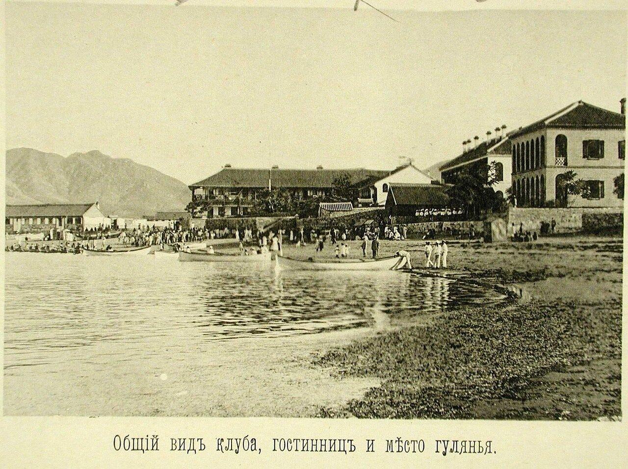 104. Вид здания гостиниц и клуба на побережье