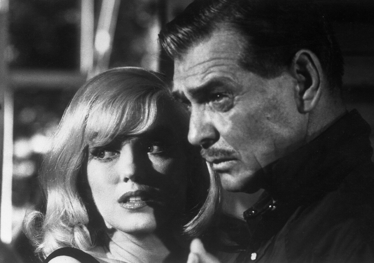 Marilyn Monroe and Clark Gable in <The Misfits>