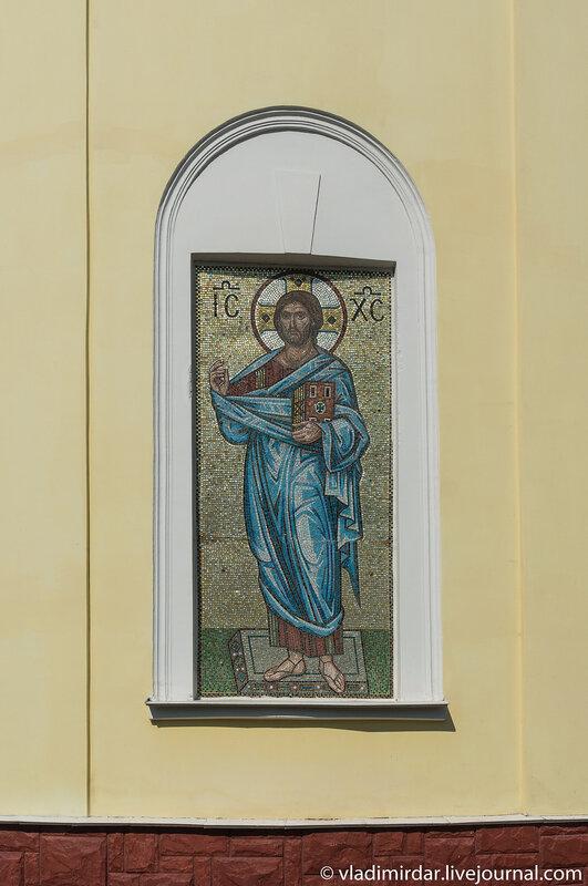 Мозаичная икона Иисуса Христа. Собор великомученицы Екатерины.