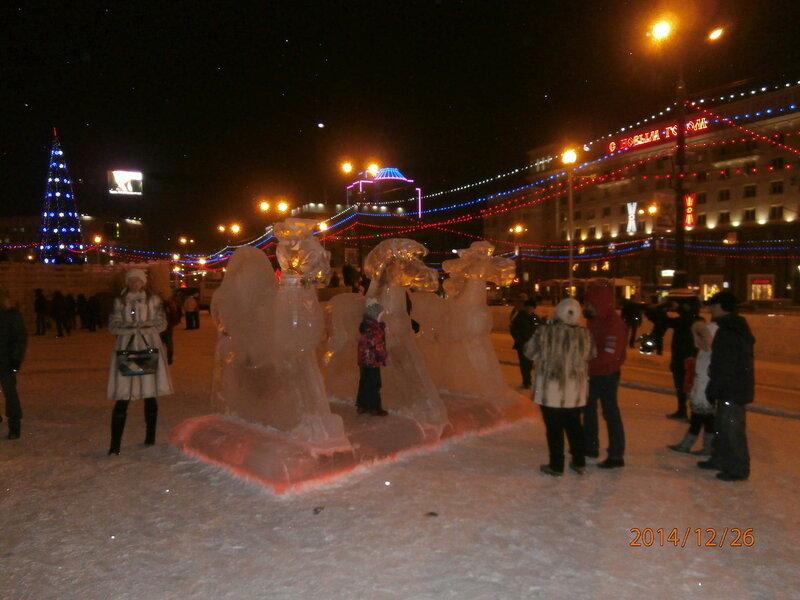 Ёлочный городок на просп. Ленина (10)