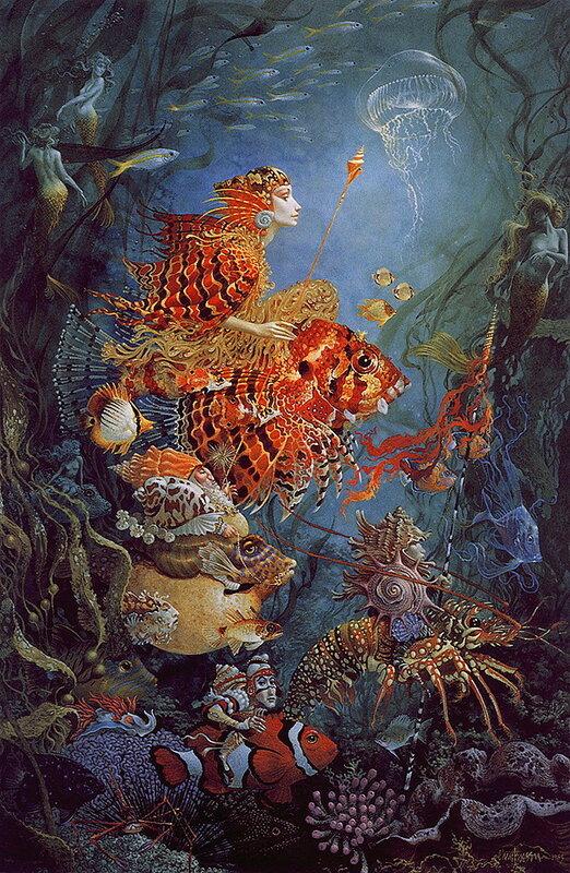 В синем Море-Океане. Удивительные фантазии James C Christensen