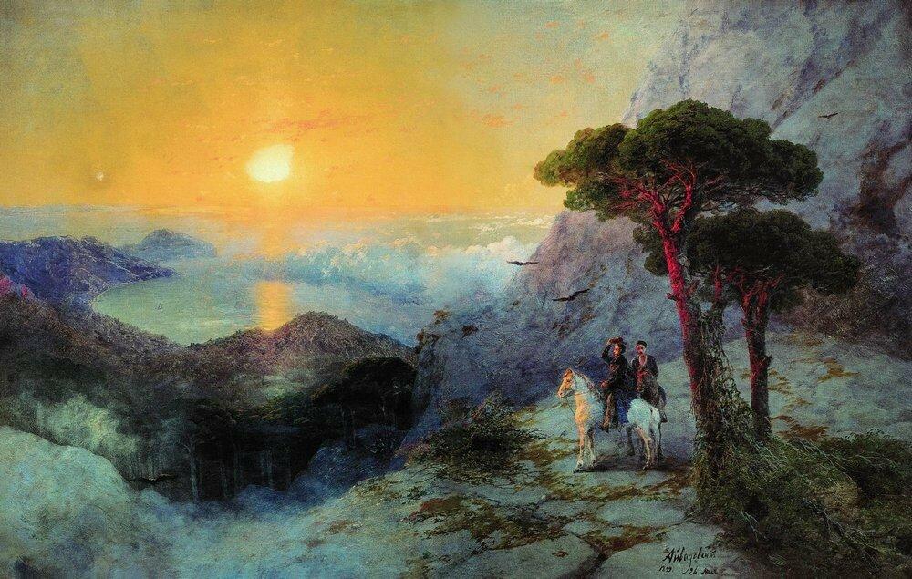 А.С. Пушкин на вершине Ай-Петри при восходе солнца. 1899.jpg