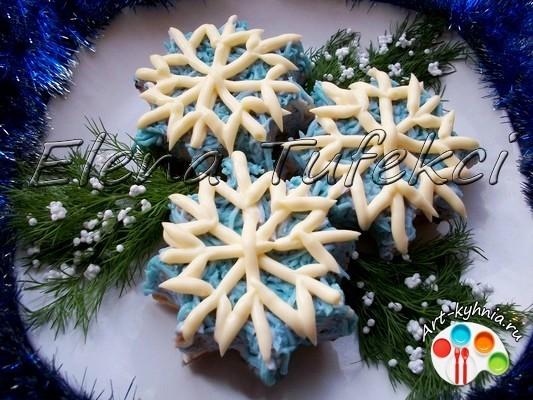 Закусочные снежинки (МК от Елены)
