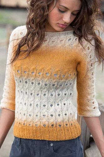 Cornhusk pullover by Agnes Kutas- Keresztes