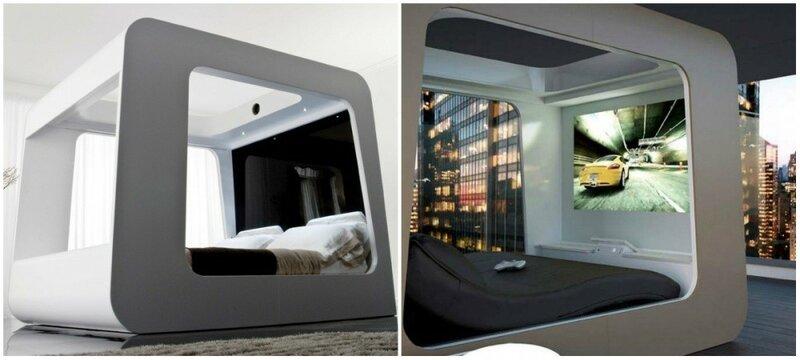 Кровать со встроенным телевизором