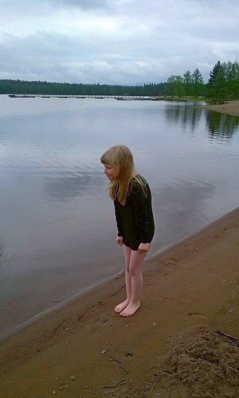 На озере.