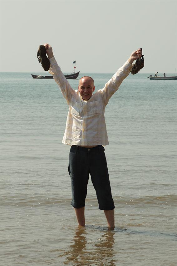 Фото 2. Счастливый автор отчета об отдыхе в Индии.