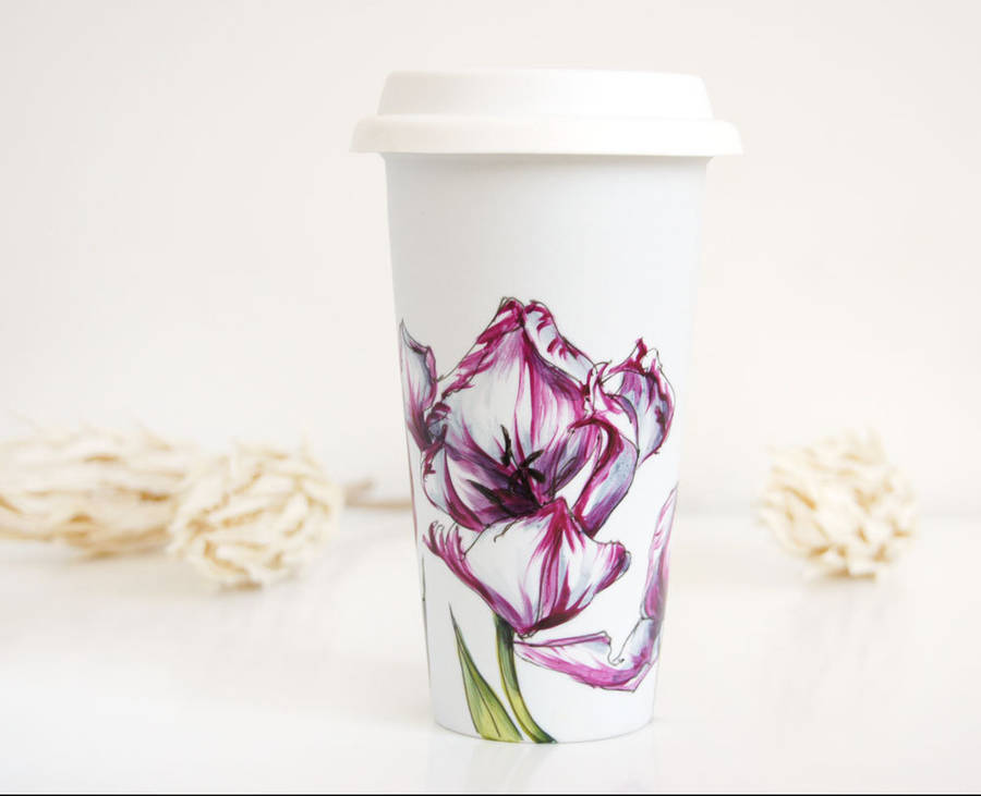 Delicate Floral Hand Painted Coffee Cups (10 pics)