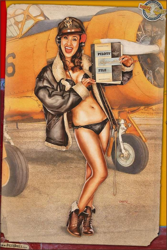 Армейский pin-up в стиле 1940-х годов от американского художника Britt Dietz (22)