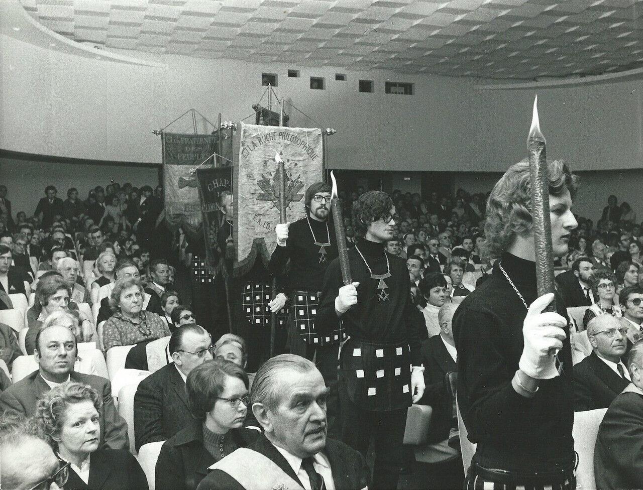 Ложа Великий Восток Франции. Церемония открытия, состоявшаяся в главном зале. 1969—1971