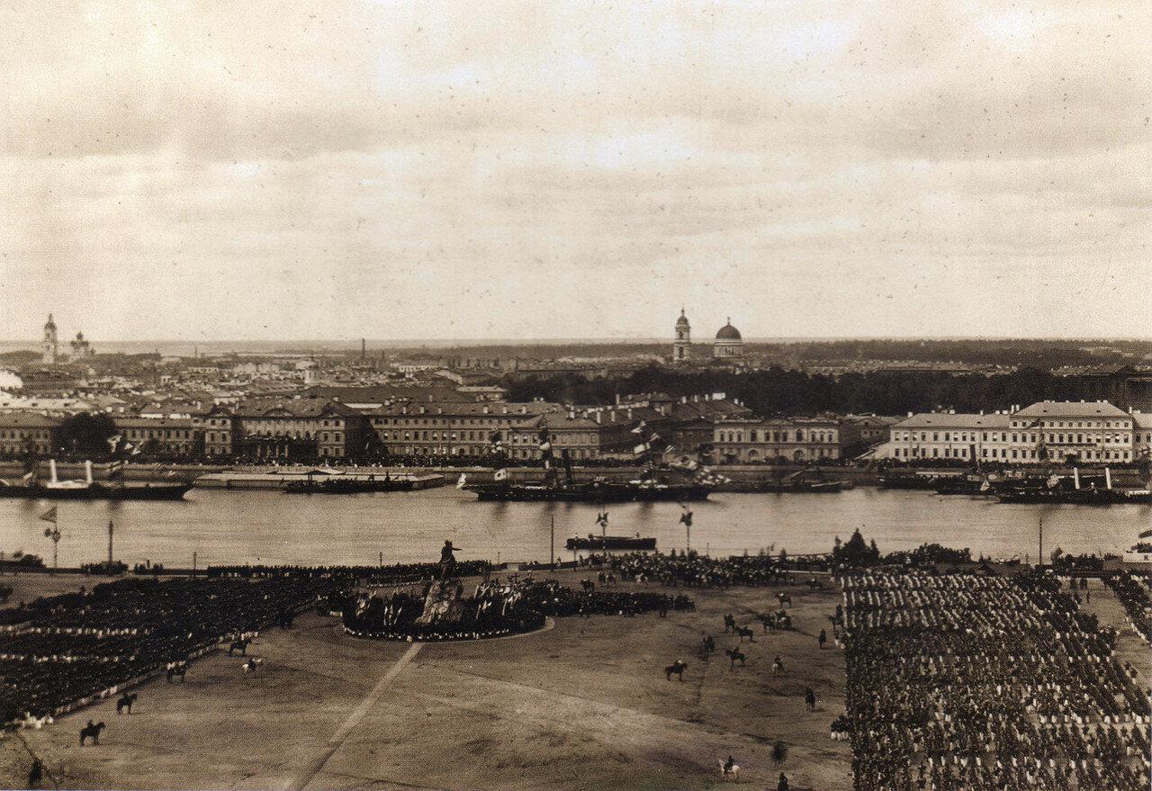 Сенатская площадь в день празднования 200-летия со дня рождения Петра I 30 мая 1872 года