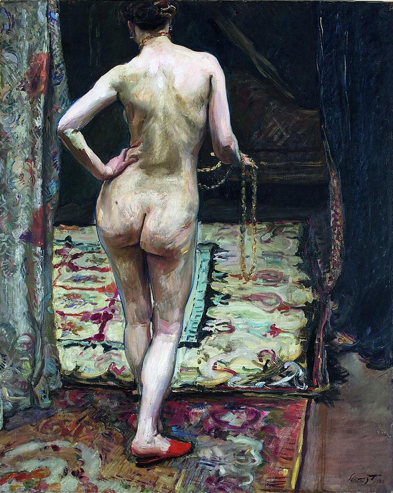 НЮ, Обнажённая сзади 1905, Слефогт, Макс(1868–1932)
