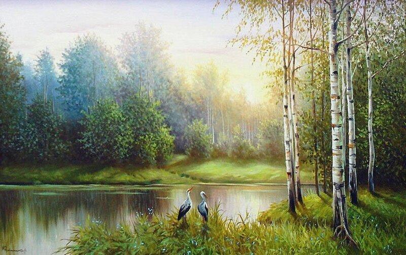Великолепные пейзажи Юрия Корникова и лирика Ларисы Кузьминской