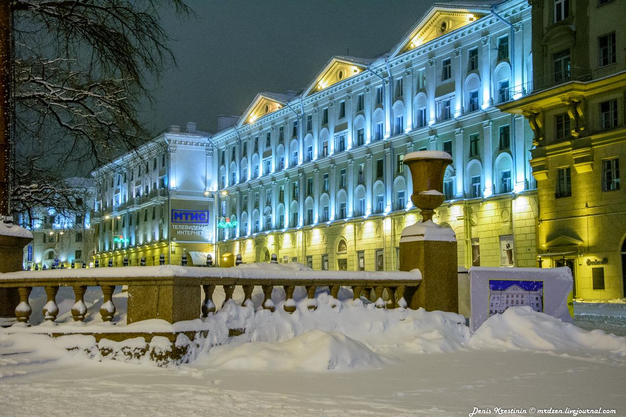 Снежный Минск. Даниелла. улица Энгельса