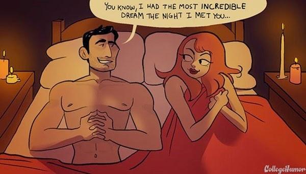 Секс в кино и в реальной жизни: он тоже хочет «пи пи» (карикатуры)