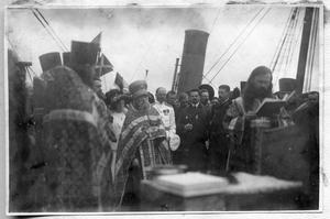 Молебен на палубе судна Святой мученик Фока