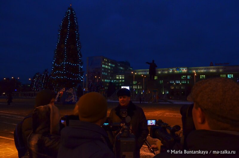 Новогодняя ёлка, Саратов, Театральная площадь, 05 декабря 2014 года