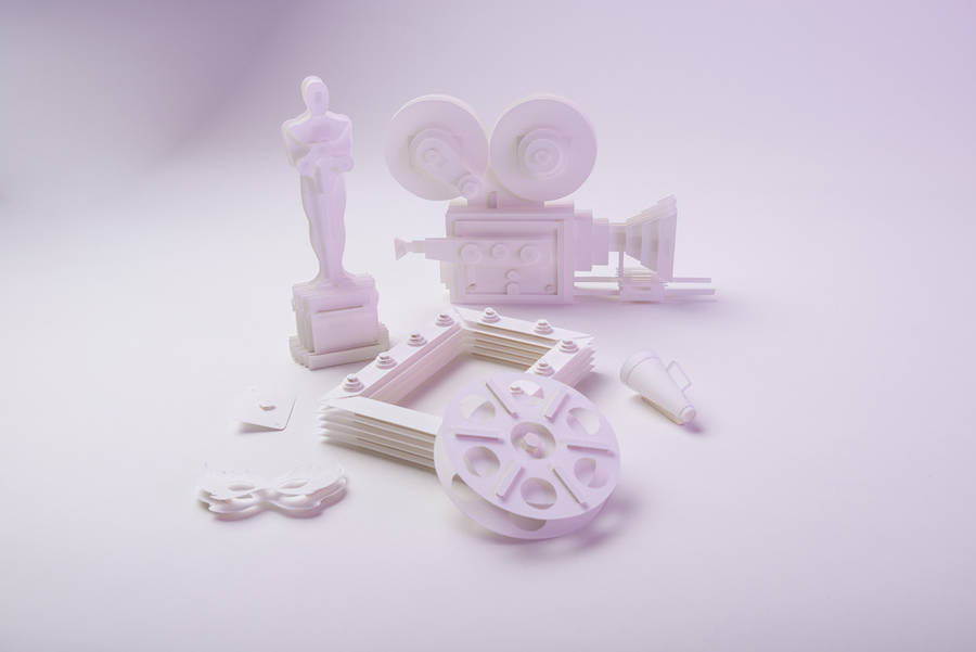 Cinema & Performance-Themed Paper Sculptures