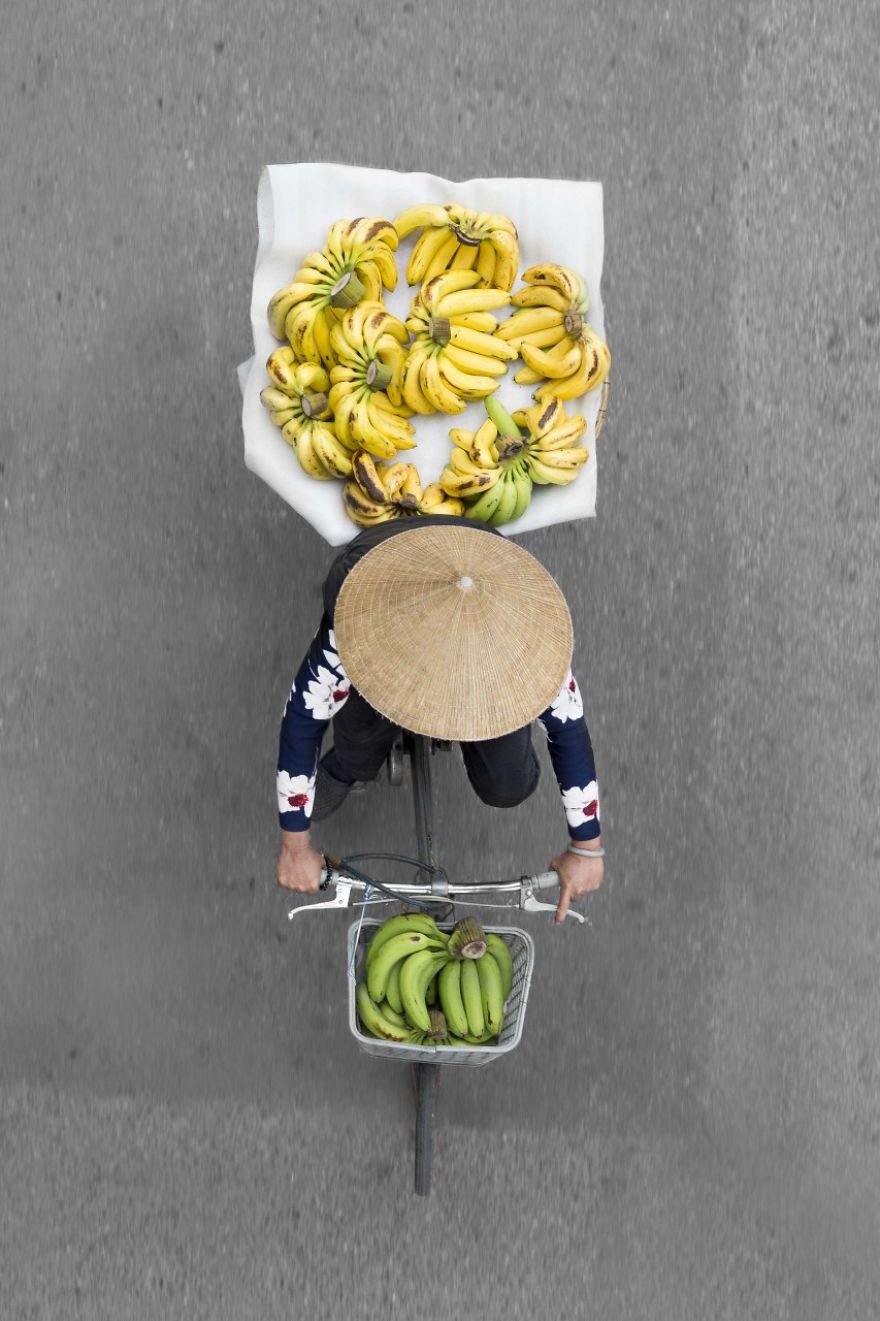 Aerial Shots of the Bright and Colorful Goods Sold by Street Vendors in Vietnam by Photographer Loes Heerink