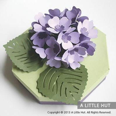 Бумажные упаковки с цветочным декором