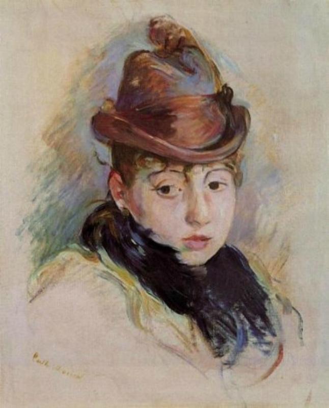 6 Berthe Morisot (1841-1895).  Henriette Pattie in a Hat.jpg