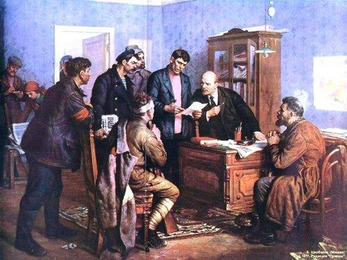 Ленин в редакции Правды..jpg
