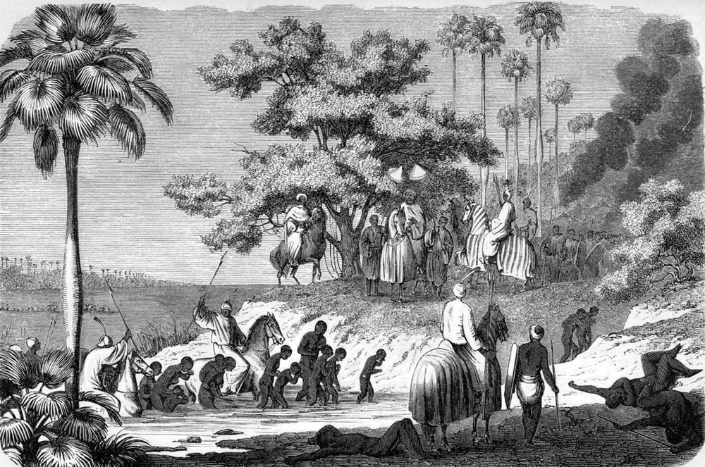 Плененные африканцы и их похитители (Северо-Западная Нигерия, 1860 год)