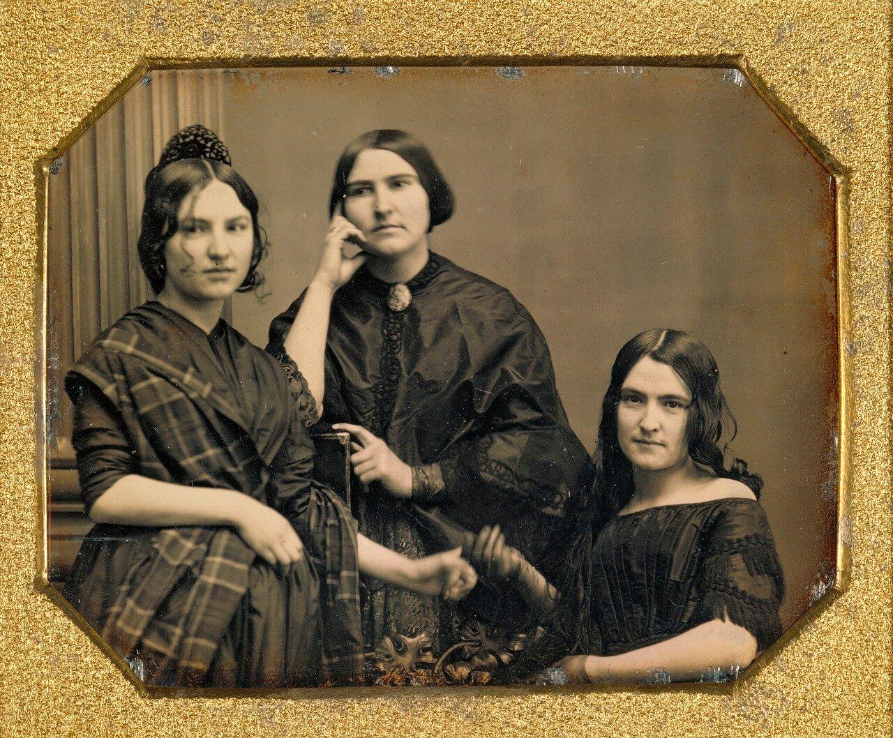 1849. Портрет трех женщин. США