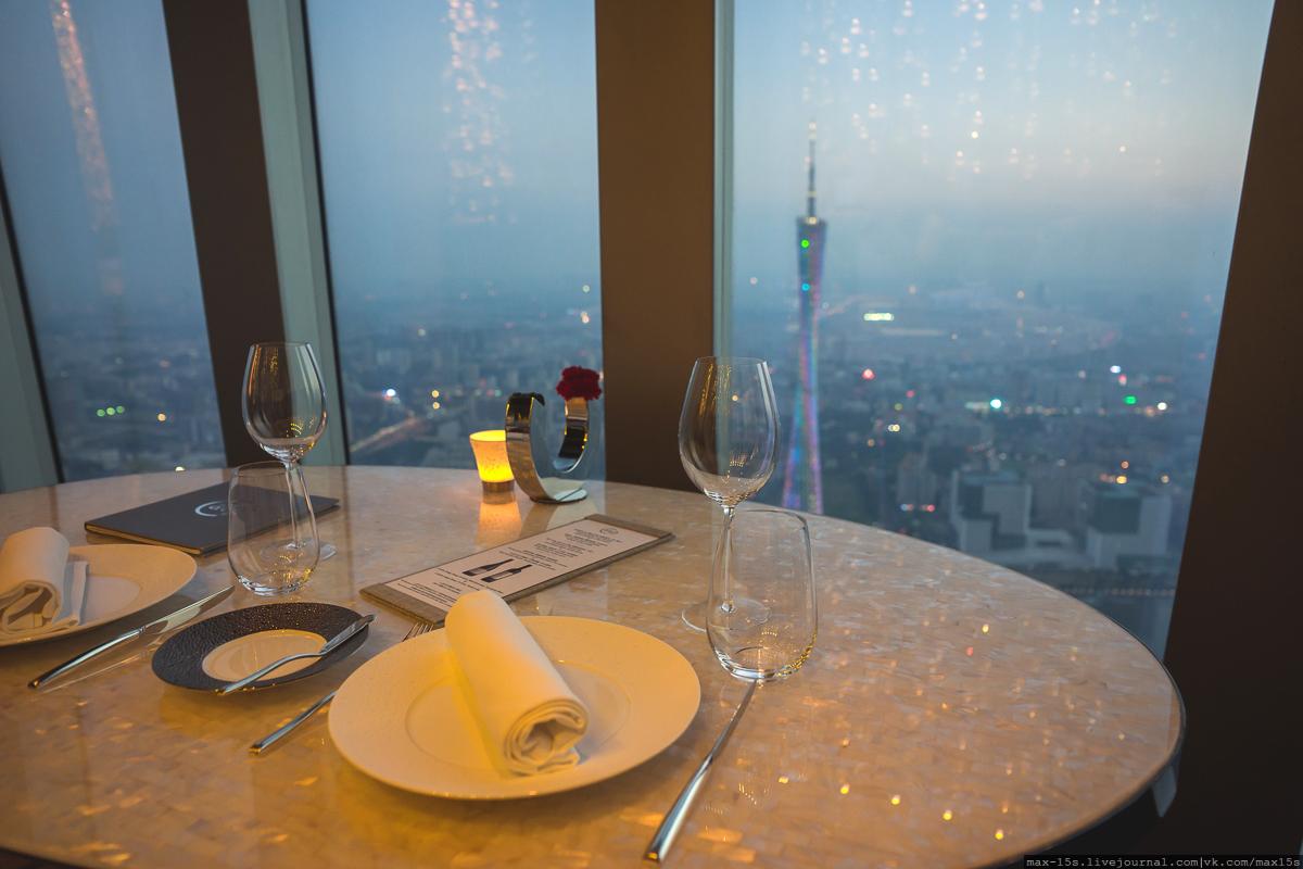 Китай, Гуанчжоу: ресторан на 100-м этаже небоскреба