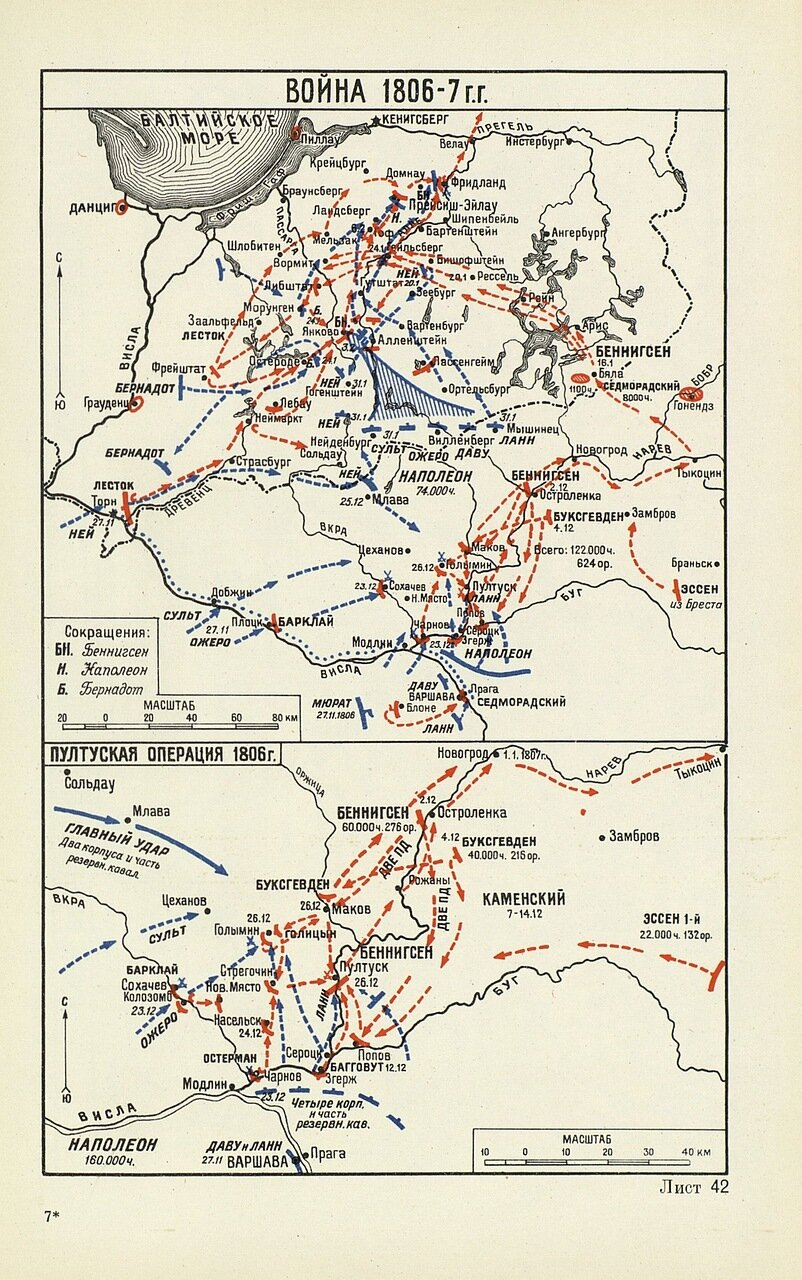 Война 1806 года и Пултуская операция