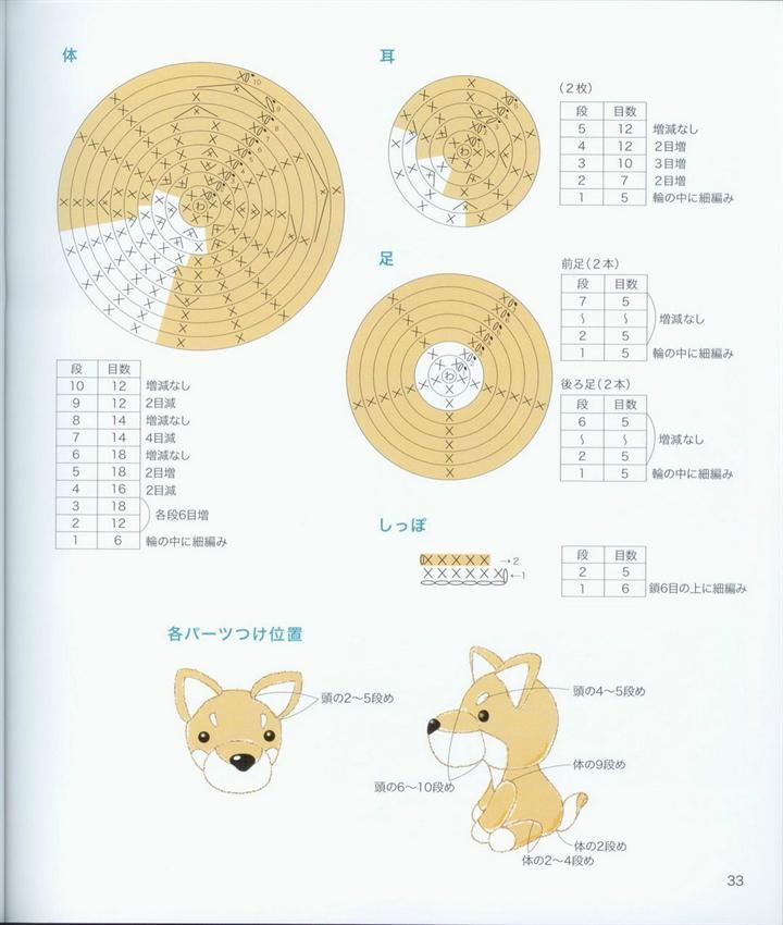 Схемы для вязания собачек 94